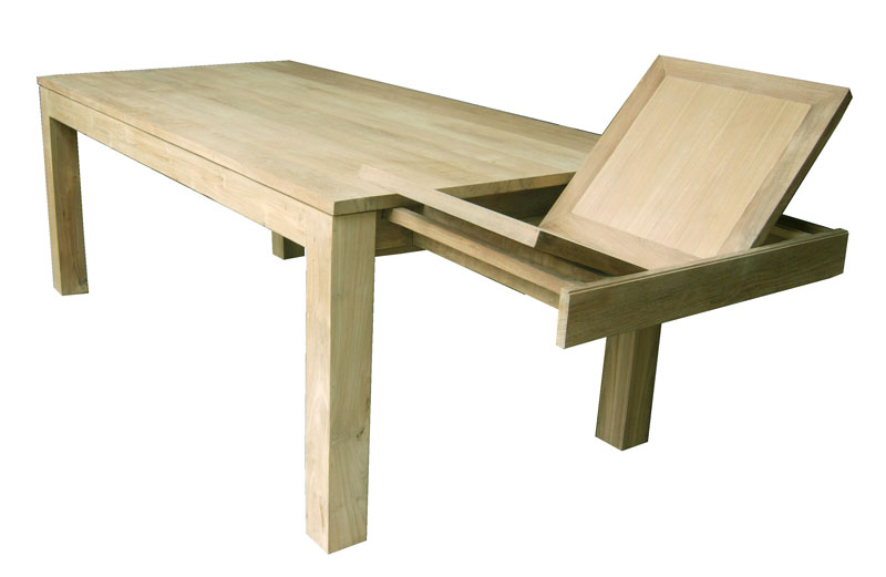 Collection roma design house saumur meubles contemporains - Table carree en bois avec rallonge ...
